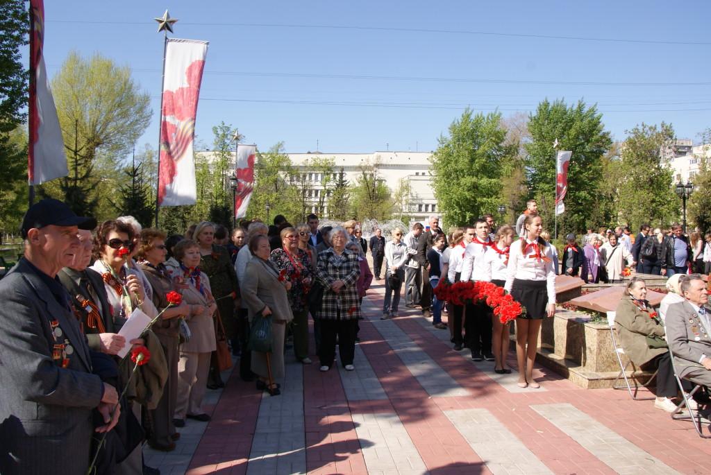 День Победы в сквере 65-летия Победы в ВОВ